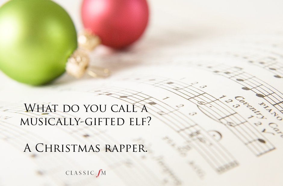 Christmas Rapper Joke - Ready to play Christmas Carols before it's too late? http://www.virtualsheetmusic.com/Christmas.html