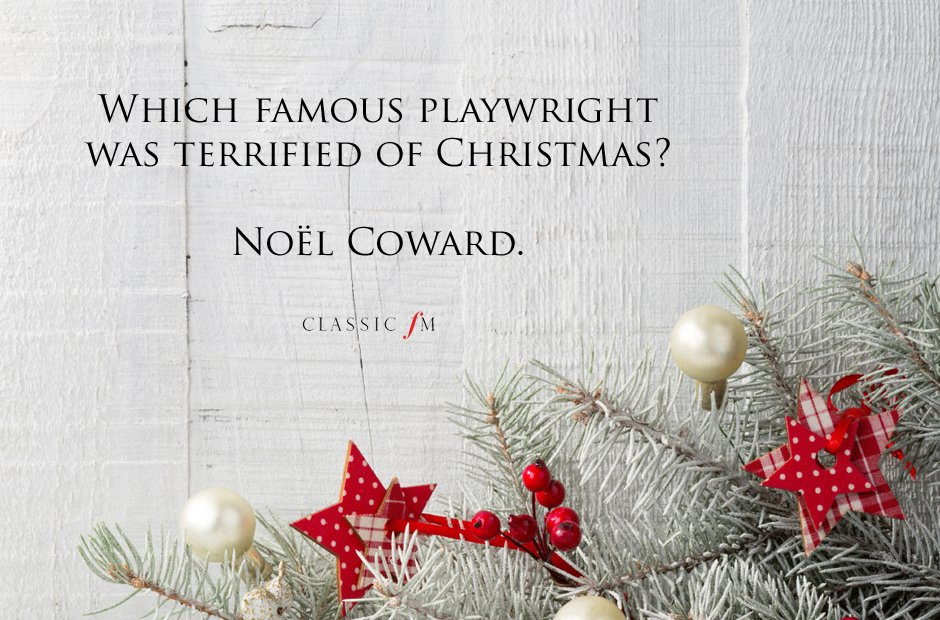 Noel Coward Joke - Ready to play Christmas Carols before it's too late? http://www.virtualsheetmusic.com/Christmas.html