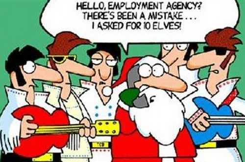 Santa Elves Joke - Ready to play Christmas Carols before it's too late? http://www.virtualsheetmusic.com/Christmas.html