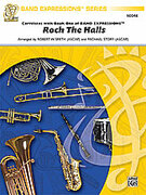 Cover icon of Rock the Halls (COMPLETE) sheet music for concert band by Anonymous, Robert W. Smith and Michael Story