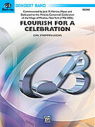 Cover icon of Flourish for a Celebration sheet music for concert band (full score) by Carl Strommen