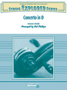 Cover icon of Concerto in D sheet music for string orchestra (full score) by Antonio Vivaldi and Bob Phillips, classical score, easy