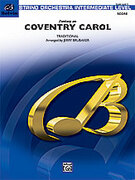 Cover icon of Coventry Carol, Fantasy on sheet music for string orchestra (full score) by Anonymous, easy/intermediate orchestra