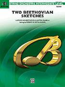 Cover icon of Two Beethovian Sketches sheet music for string orchestra (full score) by Ludwig van Beethoven