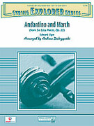 Cover icon of Andantino and March (COMPLETE) sheet music for string orchestra by Edward Elgar and Andrew H. Dabczynski