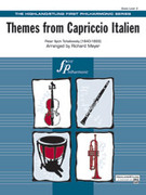 Cover icon of Themes from Capriccio Italien sheet music for full orchestra (full score) by Pyotr Ilyich Tchaikovsky and Pyotr Ilyich Tchaikovsky, classical score, easy