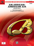 Cover icon of An African-American Air (COMPLETE) sheet music for string orchestra by Anonymous