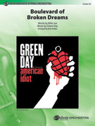 Cover icon of Boulevard of Broken Dreams (COMPLETE) sheet music for string orchestra by Billie Joe, Green Day and Bob Phillips