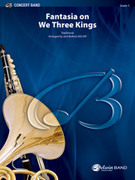 Cover icon of Fantasia on We Three Kings sheet music for concert band (full score) by Anonymous and Jack Bullock