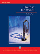 Cover icon of Flourish for Winds sheet music for concert band (full score) by Gary Fagan