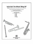 Cover icon of Let's Call the Whole Thing Off (COMPLETE) sheet music for Choral Pax by George Gershwin