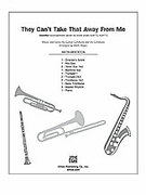 Cover icon of They Can't Take That Away from Me (COMPLETE) sheet music for Choral Pax by George Gershwin, Ira Gershwin and Mark Hayes