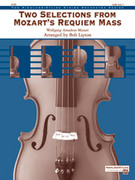Cover icon of Two Selections from Mozart's Requiem Mass sheet music for string orchestra (full score) by Wolfgang Amadeus Mozart
