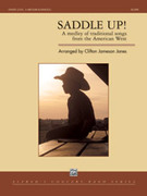Cover icon of Saddle Up! sheet music for concert band (full score) by Clifton Jameson Jones, intermediate skill level