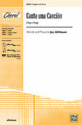 Cover icon of Cante una Cancion (Sing a Song) sheet music for choir (2-Part) by Jay Althouse, intermediate choir (2-Part)