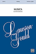 Cover icon of Musica sheet music for choir (SATB, a cappella) by Matthew Armstrong, intermediate choir (SATB, a cappella)