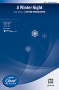 Cover icon of A Winter Night sheet music for choir (SAB: soprano, alto, bass) by David Waggoner, intermediate skill level