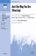 Cover icon of Just the Way You Are (Amazing) sheet music for choir (SSAB: soprano, alto, bass) by Khalil Walton, Bruno Mars and Alan Billingsley, intermediate skill level