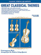 Cover icon of Great Classical Themes sheet music for string quartet (full score) by Anonymous