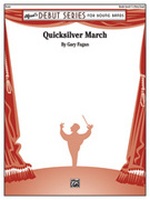 Cover icon of Quicksilver March sheet music for concert band (full score) by Gary Fagan