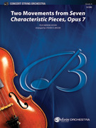 Cover icon of Two Movements from Seven Characteristic Pieces, Op. 7 sheet music for string orchestra (full score) by Felix Mendelssohn-Bartholdy, Felix Mendelssohn-Bartholdy and Steven H. Brook, classical score, intermediate