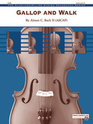 Cover icon of Gallop and Walk sheet music for string orchestra (full score) by Almon C. Bock