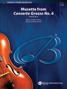 Cover icon of Musette from Concerto Grosso No. 6 sheet music for string orchestra (full score) by George Frideric Handel and Michael Hopkins