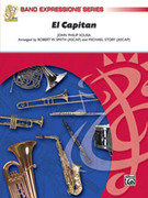 Cover icon of El Capitan sheet music for concert band (full score) by John Philip Sousa and Jack Bullock