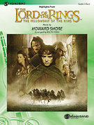 Cover icon of The Lord of the Rings sheet music for concert band (full score) by Howard Shore and Ralph Ford