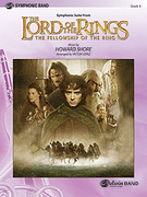 Cover icon of The Lord of the Rings sheet music for concert band (full score) by Howard Shore, intermediate skill level