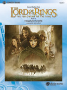 Cover icon of The Lord of the Rings sheet music for concert band (full score) by Howard Shore and Jack Bullock
