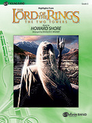 Cover icon of The Lord of the Rings sheet music for concert band (full score) by Howard Shore and Douglas E. Wagner, easy