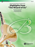 Cover icon of The Wizard of Oz, Highlights from sheet music for concert band (full score) by Harold Arlen and E.Y. Harburg, easy skill level