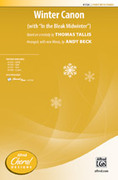 Cover icon of Winter Canon sheet music for choir (2-Part) by Thomas Tallis and Andy Beck