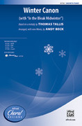Cover icon of Winter Canon sheet music for choir (SAB) by Thomas Tallis and Andy Beck, intermediate