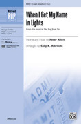 Cover icon of When I Get My Name in Lights sheet music for choir (3-Part Mixed) by Peter Allen, intermediate