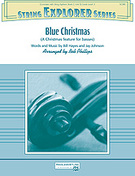 Cover icon of Blue Christmas sheet music for string orchestra (full score) by Bill Hayes, Jay Johnson, Elvis Presley and Bob Phillips, Christmas carol score, intermediate orchestra