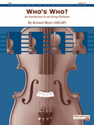 Cover icon of Who's Who? (COMPLETE) sheet music for string orchestra by Richard Meyer, intermediate