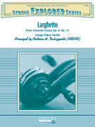 Cover icon of Larghetto sheet music for string orchestra (full score) by George Frideric Handel and Andrew H. Dabczynski