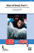Cover icon of Man of Steel, Part 1 sheet music for marching band (full score) by Hans Zimmer and Michael Story