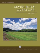 Cover icon of Seven Hills Overture sheet music for concert band (full score) by John Fannin