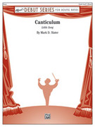 Cover icon of Canticulum sheet music for concert band (full score) by Mark D. Slater, intermediate skill level