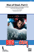 Cover icon of Man of Steel, Part 3 (COMPLETE) sheet music for marching band by Hans Zimmer and Michael Story