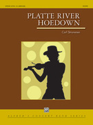 Cover icon of Platte River Hoedown sheet music for concert band (full score) by Carl Strommen