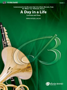 Cover icon of A Day in a Life sheet music for concert band (full score) by Patrick Roszell