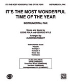 Cover icon of It's the Most Wonderful Time of the Year sheet music for choir (full score) by Eddie Pola, intermediate
