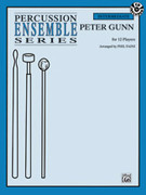 Cover icon of Peter Gunn sheet music for percussions (full score) by Henry Mancini, intermediate skill level