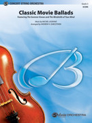 Cover icon of Classic Movie Ballads sheet music for string orchestra (full score) by Michel Legrand and Andrew H. Dabczynski, intermediate orchestra