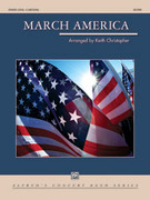 Cover icon of March America sheet music for concert band (full score) by Keith Christopher