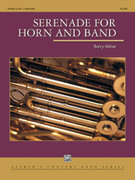 Cover icon of Serenade for Horn and Band sheet music for concert band (full score) by Barry Milner, intermediate concert band (full score)